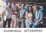 group of young business people... | Shutterstock . vector #1071434933