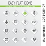 pawn shop vector icons for user ... | Shutterstock .eps vector #1071435407