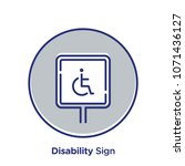 disability related offset style ... | Shutterstock .eps vector #1071436127