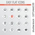 server flat web icons for user... | Shutterstock .eps vector #1071466133