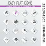 science flat vector icons for... | Shutterstock .eps vector #1071467183