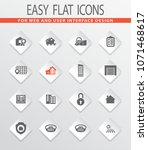 real estate vector icons for... | Shutterstock .eps vector #1071468617