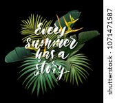 summer tropical poster with... | Shutterstock .eps vector #1071471587