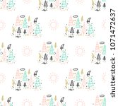 cartoon nature seamless pattern ... | Shutterstock .eps vector #1071472637