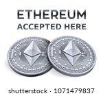 ethereum. accepted sign emblem. ... | Shutterstock .eps vector #1071479837