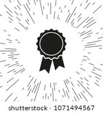 vector icon badge with ribbons... | Shutterstock .eps vector #1071494567