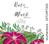 wedding concept template invite ... | Shutterstock .eps vector #1071497333