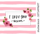 happy mother's day elegant... | Shutterstock .eps vector #1071499697