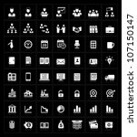 business icons set on black | Shutterstock .eps vector #107150147