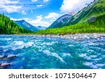 Mountain river water landscape. ...