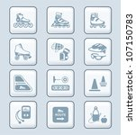 inline skating icons   tech... | Shutterstock .eps vector #107150783