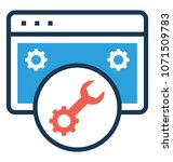 programming flat and line icon ... | Shutterstock .eps vector #1071509783
