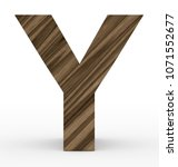 letter y 3d wooden isolated on... | Shutterstock . vector #1071552677