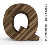 letter q 3d wooden isolated on... | Shutterstock . vector #1071552683