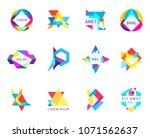 trendy logos geometric opacity... | Shutterstock .eps vector #1071562637