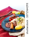 Small photo of Central and Eastern European cuisines choucroute - sauerkraut with riesling