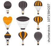 hot air balloons icons in... | Shutterstock .eps vector #1071584207