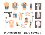orthopedic surgery and... | Shutterstock .eps vector #1071589517
