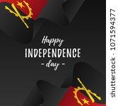 banner or poster of angola... | Shutterstock .eps vector #1071594377