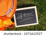 27th of april written in dutch... | Shutterstock . vector #1071612527