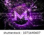 cryptocurrency monero symbol... | Shutterstock . vector #1071640607