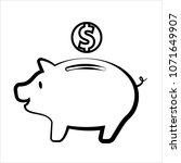 coin money box piggy bank... | Shutterstock .eps vector #1071649907