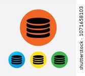 flat icon of money vector icon | Shutterstock .eps vector #1071658103