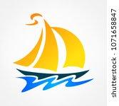 ship logo. raster image. | Shutterstock . vector #1071658847