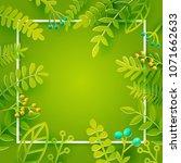 season spring and summer leaves ... | Shutterstock .eps vector #1071662633