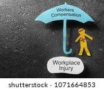 bandaged paper man under... | Shutterstock . vector #1071664853