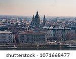 panoramic view of the danube... | Shutterstock . vector #1071668477