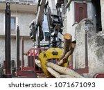 truck carrying wood | Shutterstock . vector #1071671093