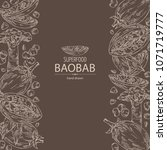 background with baobab  baobab... | Shutterstock .eps vector #1071719777