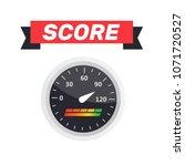 guage icon. credit score...   Shutterstock .eps vector #1071720527