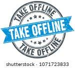 take offline round grunge... | Shutterstock .eps vector #1071723833