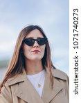 fashion details.  portrait of a ... | Shutterstock . vector #1071740273