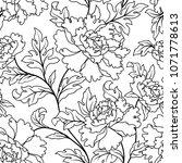 floral seamless pattern. flower ... | Shutterstock .eps vector #1071778613