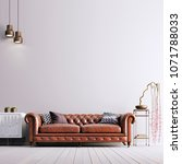 empty wall in classical style... | Shutterstock . vector #1071788033