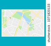 map of the city  locality.... | Shutterstock .eps vector #1071820133