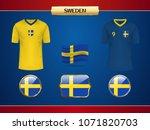 football sweden jersey. vector...   Shutterstock .eps vector #1071820703