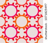 seamless pattern of the... | Shutterstock .eps vector #1071825497
