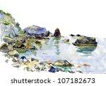 Landscape. Watercolor
