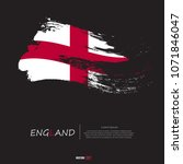 flag of england with grunge... | Shutterstock .eps vector #1071846047