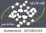 may lily. vector illustration... | Shutterstock .eps vector #1071851153
