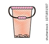 doodle plastic pail object to... | Shutterstock .eps vector #1071851507