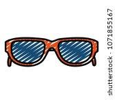 doodle optical sunglasses frame ... | Shutterstock .eps vector #1071855167
