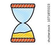 doodle sand hourglass countdown ... | Shutterstock .eps vector #1071855323