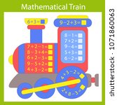 mathematical exercise with... | Shutterstock .eps vector #1071860063