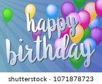 happy birthday greeting card... | Shutterstock .eps vector #1071878723