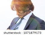 portrait of well dressed... | Shutterstock . vector #1071879173